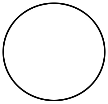 картинка круг белый